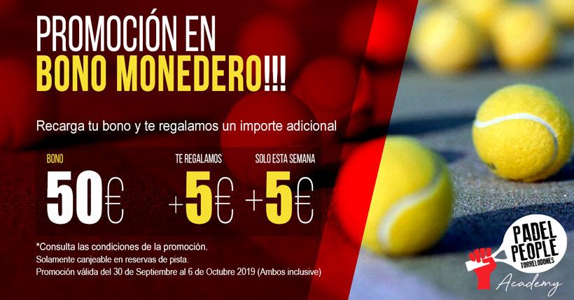 PROMOCION BONO MONEDERO OCTUBRE 2019